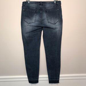 Kensie Jeans - Kensie Stretchy Skinny Jeans Distressed Fray Hems